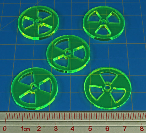 LITKO Large Radiation Tokens, Fluorescent Green (10) - LITKO Game Accessories