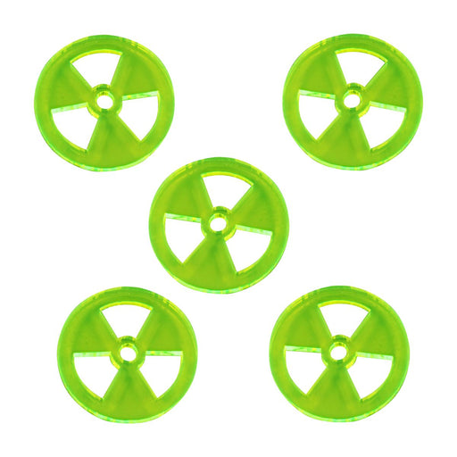 LITKO Large Radiation Tokens, Fluorescent Green (5) - LITKO Game Accessories