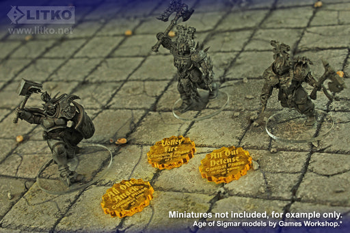 LITKO Command Ability Token Set, Compatible with AoS: 2019 GH, Transparent Yellow (6) - LITKO Game Accessories