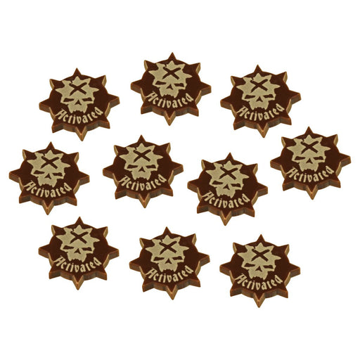 LITKO Activated Token Set Compatible with War Cry, Brown (10) - LITKO Game Accessories