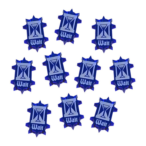 LITKO Wait Token Set Compatible with War Cry, Translucent Blue (10) - LITKO Game Accessories