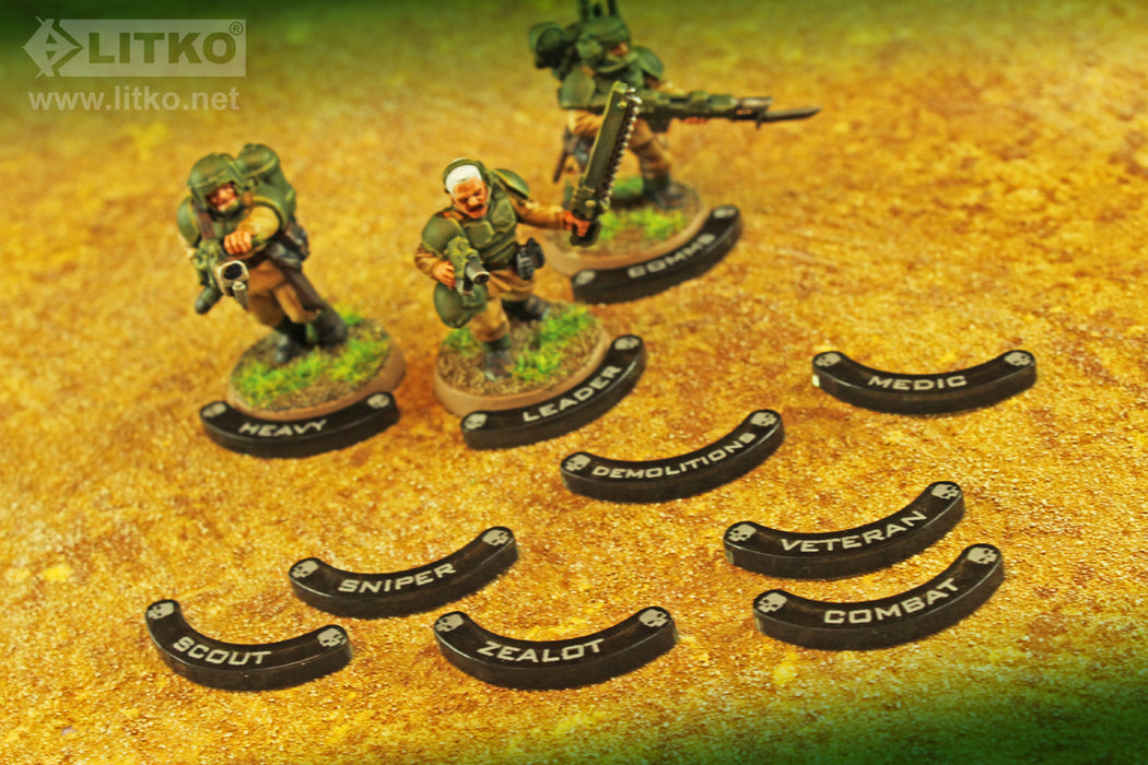 LITKO Specialist Base Hugger Token Set, 25mm Bases, Compatible with WH:KT, Translucent Grey (10) - LITKO Game Accessories