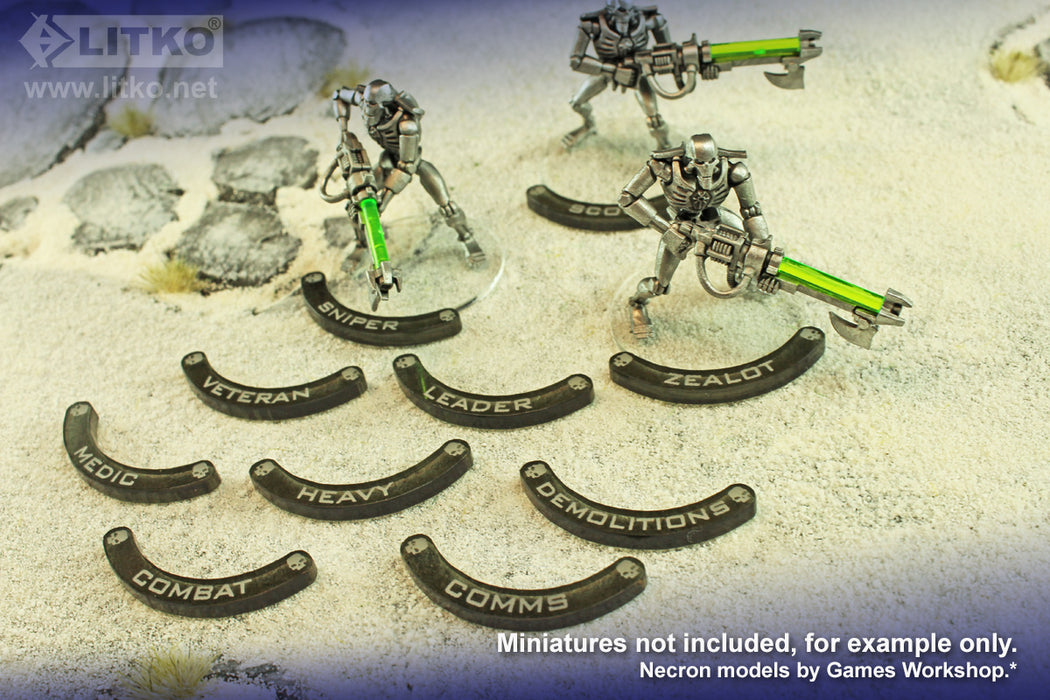 LITKO Specialist Base Hugger Token Set, 32mm Bases, Compatible with WH:KT, Translucent Grey (10) - LITKO Game Accessories