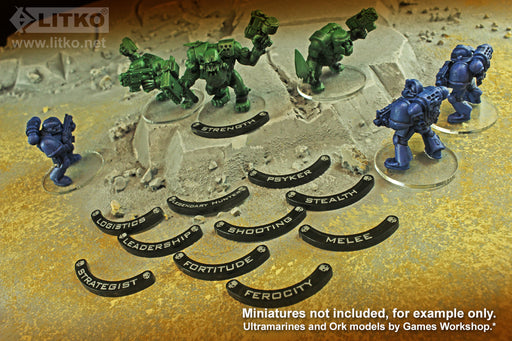 LITKO Specialism Base Hugger Token Set, 32mm Bases, Compatible with WH:KT, Translucent Grey (10) - LITKO Game Accessories
