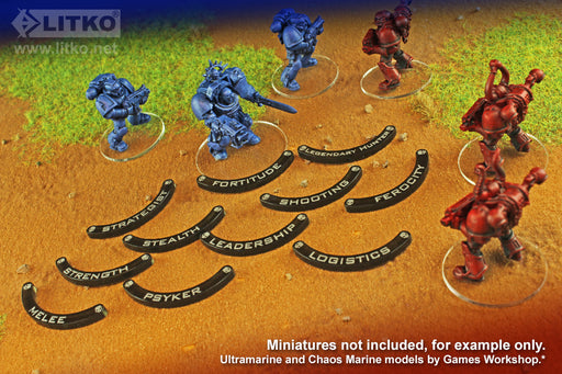 LITKO Specialism Base Hugger Token Set, 40mm Bases, Compatible with WH:KT, Translucent Grey (10) - LITKO Game Accessories