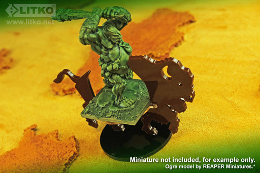 LITKO Bison Character Mount with 50mm Circle Base, Brown - LITKO Game Accessories