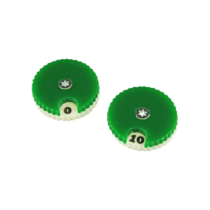 LITKO Circular Combat Dials, Numbered 0-10, Green (2) - LITKO Game Accessories