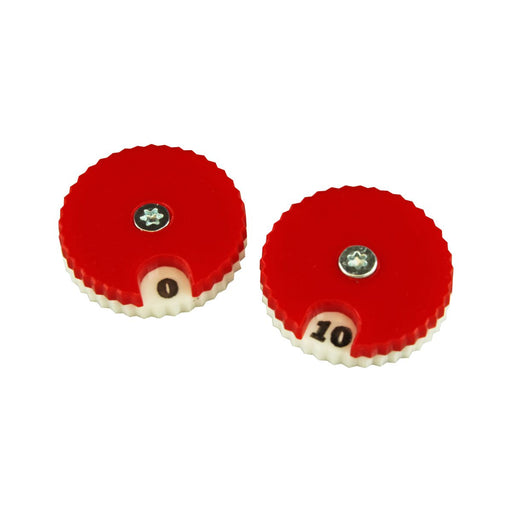 LITKO Circular Combat Dials, Numbered 0-10, Red (2) - LITKO Game Accessories
