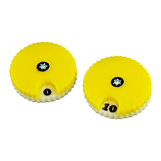 LITKO Circular Combat Dials, Numbered 0-10, Yellow (2) - LITKO Game Accessories