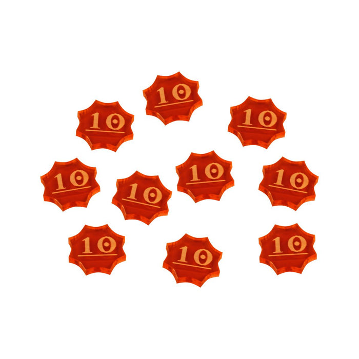 LITKO 10-Spice Tokens compatible with Dune Board Game, Fluorescent Amber (10) - LITKO Game Accessories