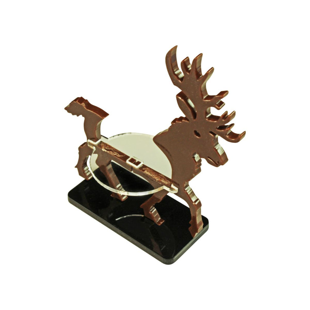 LITKO Stag Character Mount with 25x50mm Rectangle Base, Brown - LITKO Game Accessories