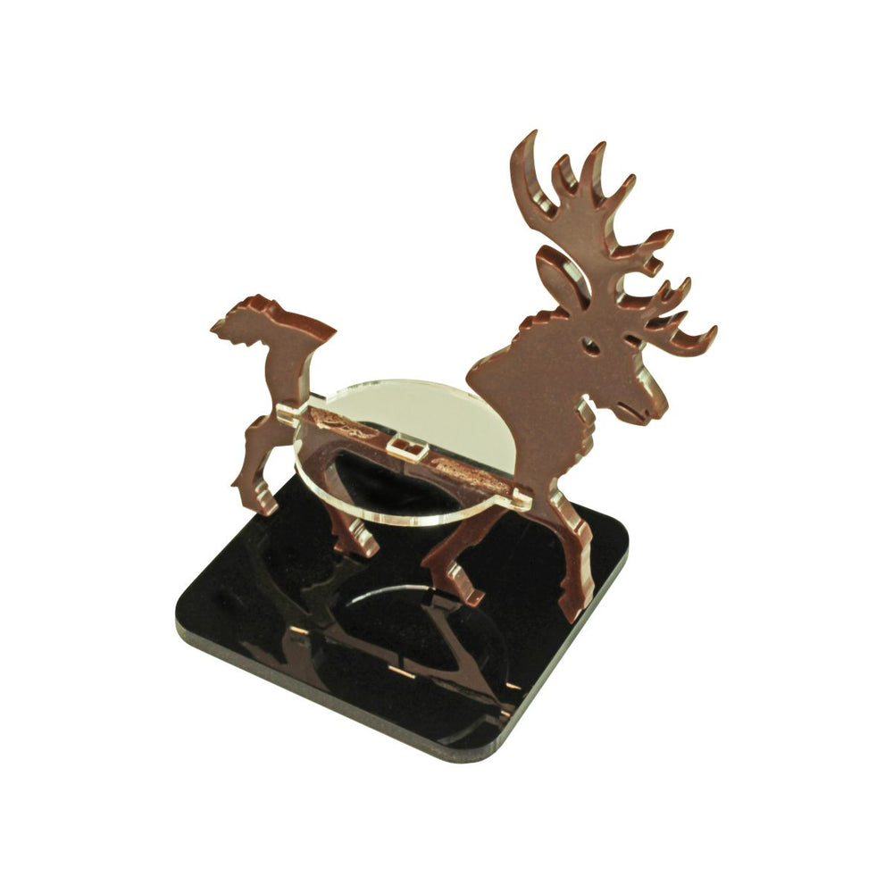 LITKO Stag Character Mount with 2 inch Square Base, Brown - LITKO Game Accessories