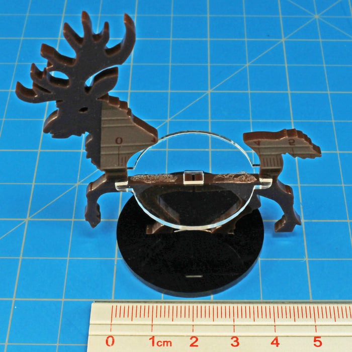LITKO Stag Character Mount with 40mm Circular Base, Brown - LITKO Game Accessories