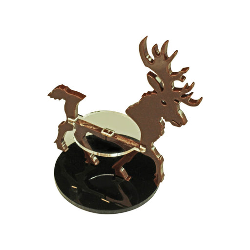 LITKO Stag Character Mount with 50mm Circular Base, Brown - LITKO Game Accessories