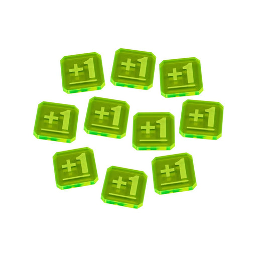 LITKO Plus One Tokens compatible with WHv9, Fluorescent Green (10) - LITKO Game Accessories