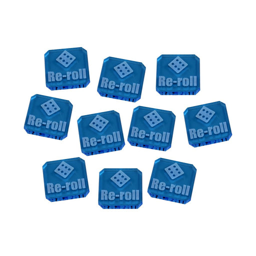 LITKO Re-roll Tokens compatible with WHv9, Fluorescent Blue (10) - LITKO Game Accessories
