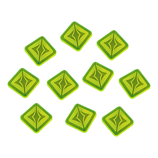 LITKO Surge Tokens Compatible with SW: Legion, Fluorescent Green (10)