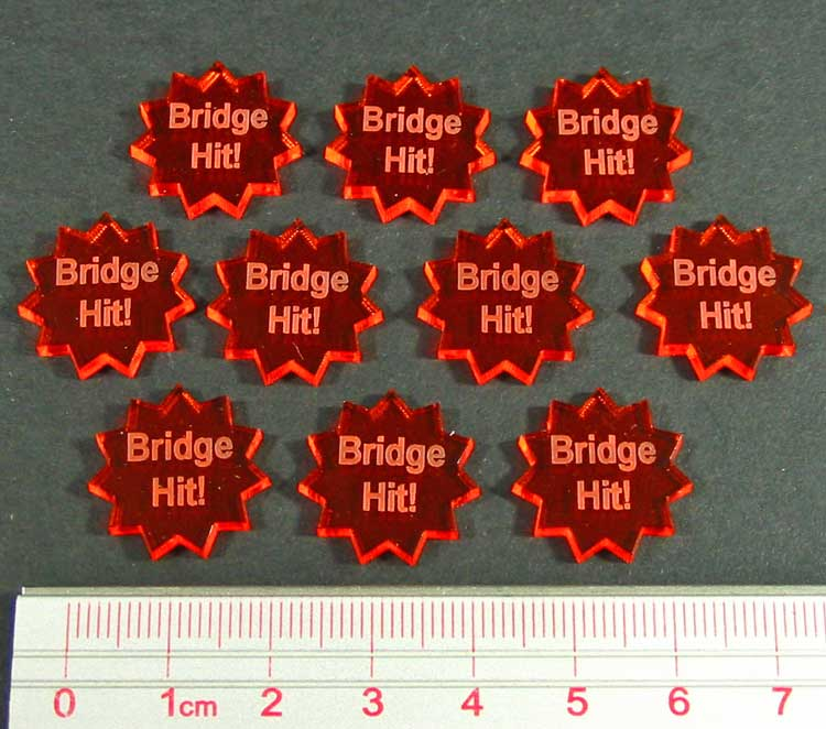Bridge Hit! Tokens, Fluorescent Amber (10) - LITKO Game Accessories