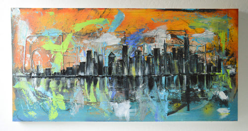 City Abstract Painting