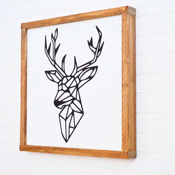 wood reindeer sign