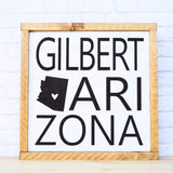 gilbert wood sign