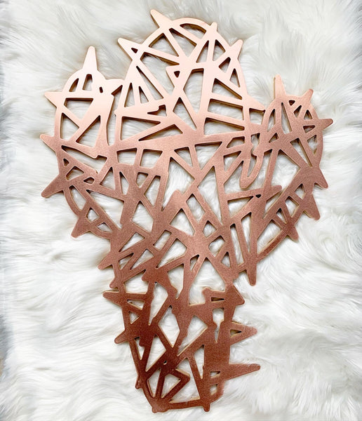 Copper Crazy Cactus Wall Art