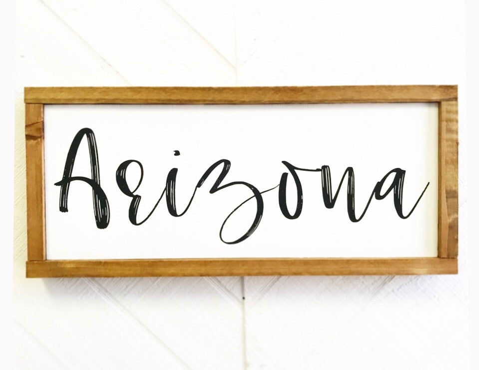 Arizona Script Sign