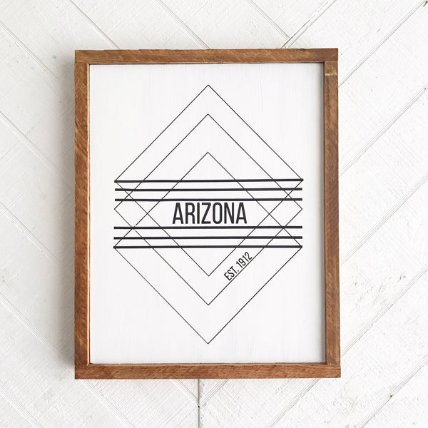 Arizona 1912 Wood Sign