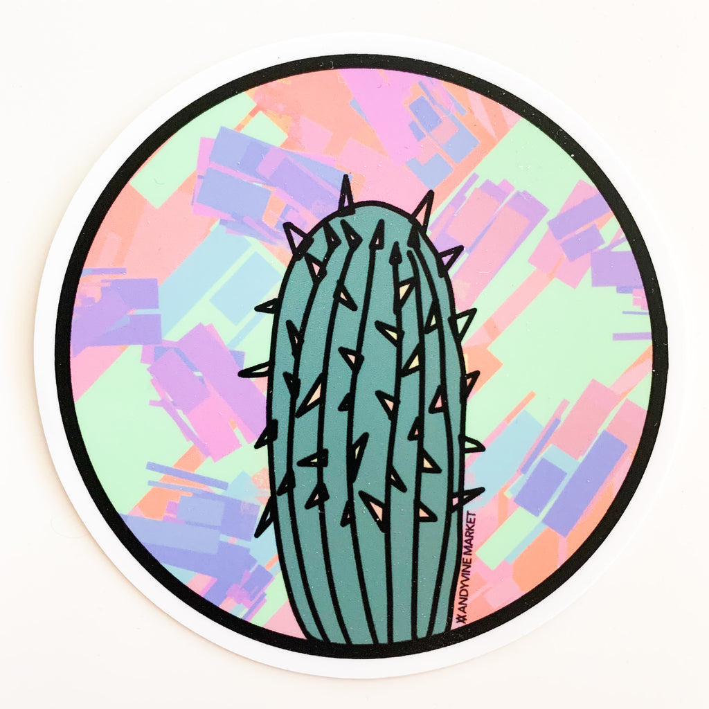 Saved by the Cactus Sticker