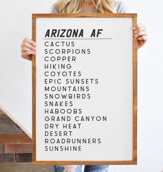 Arizona AF Wood Sign