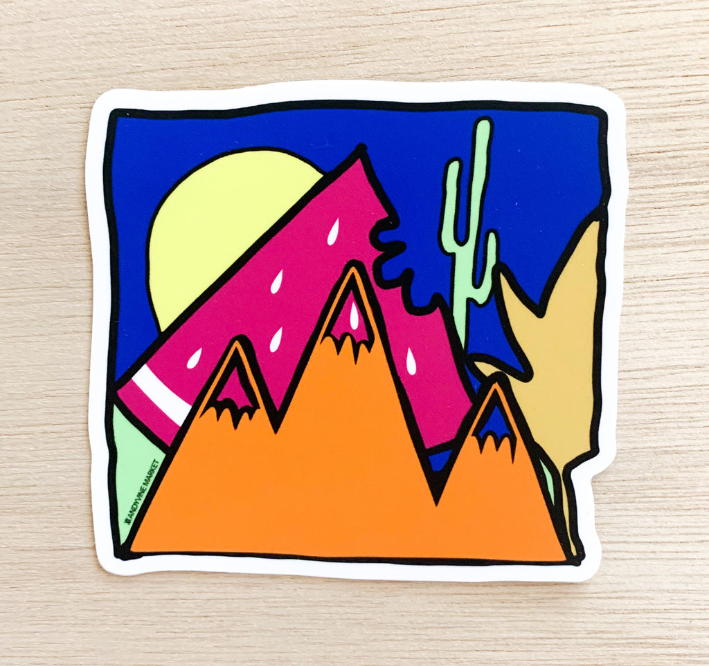 Watermelon Desert Sticker