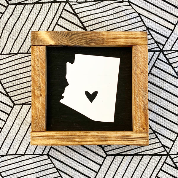 Arizona Heart Mini Sign