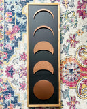 Painted Copper Moon Phases Wood Sign