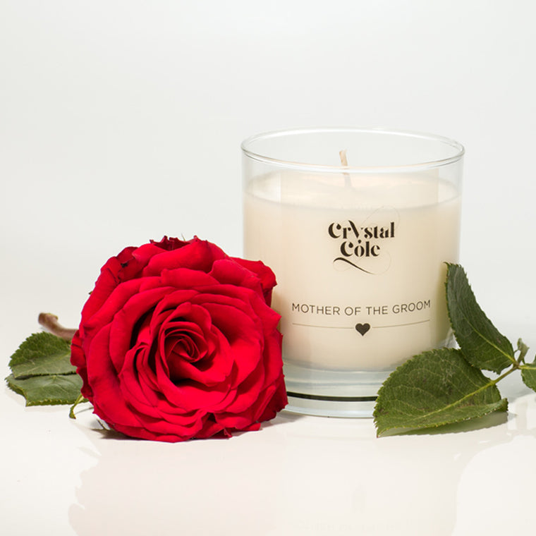 """Mother of the Groom"" scented candle"