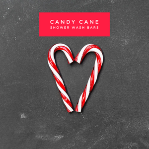 Limited Edition Candy Cane Shower Wash Bars