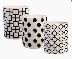 Black and white assorted tealight holders