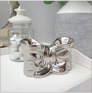 LIMITED STOCK! Chrome or White DOUBLE bow wax/oil burner