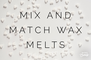 Mix and match heart shaped wax melts