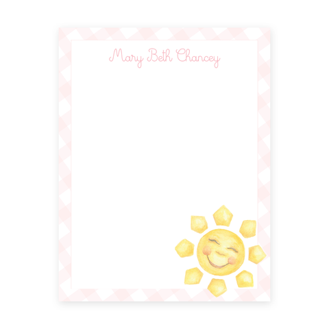 Sunshine Pink 8.5 x 11 Notepad