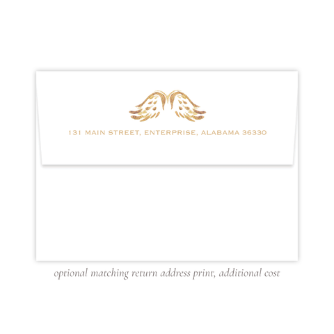 Angel Wings Christmas A7 Return Address Print