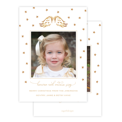 Angel Wings Christmas Card Portrait