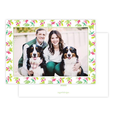 Annie Pup Christmas Card Border Landscape