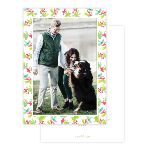 Annie Pup Christmas Card Border Portrait