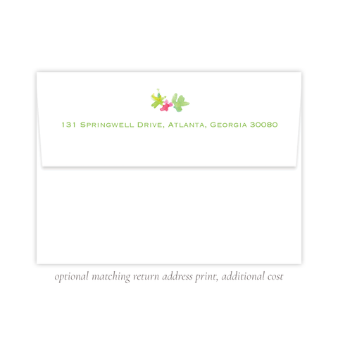 Annie Pup Christmas Return Address Print