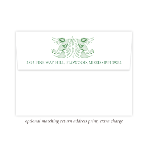 Alleluia Bird Green Return Address Print