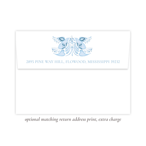 Alleluia Blue Bird Return Address Print
