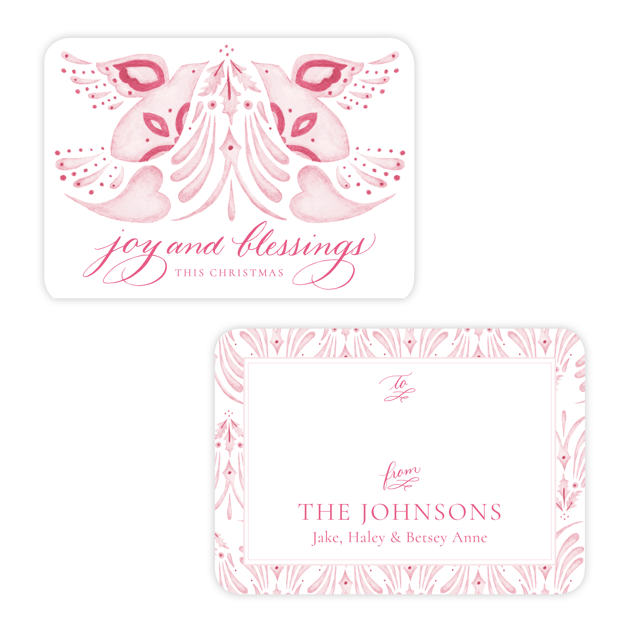 Alleluia Pink 4 Bar Christmas Gift Tag