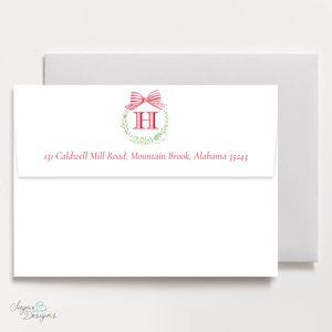 Angel Baby Wreath Return Address Print