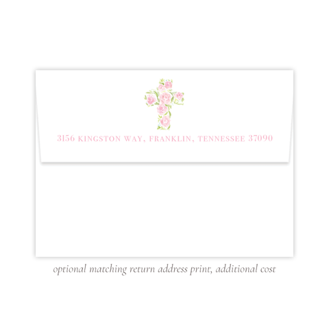 Anna's Cross Stationery Return Address Print by Sugar B Designs