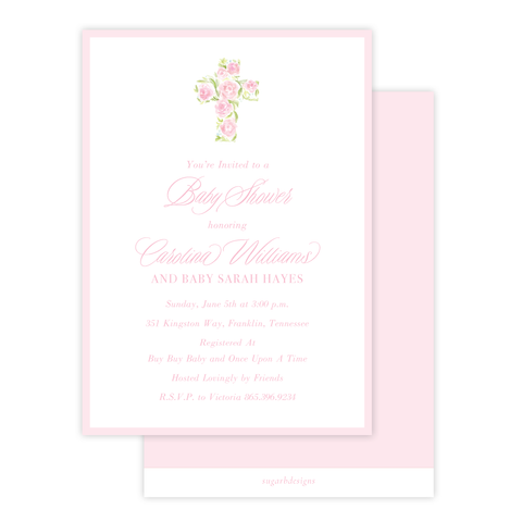 Anna's Cross Baby Shower Invitation